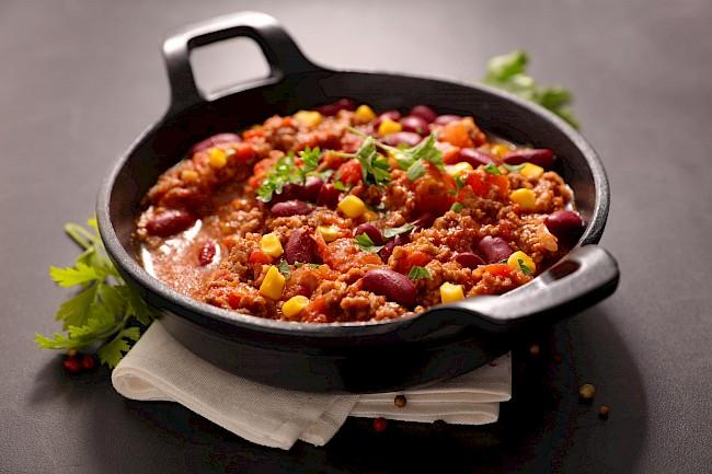 Chili con carne - wartości odżywcze, witaminy, minerały