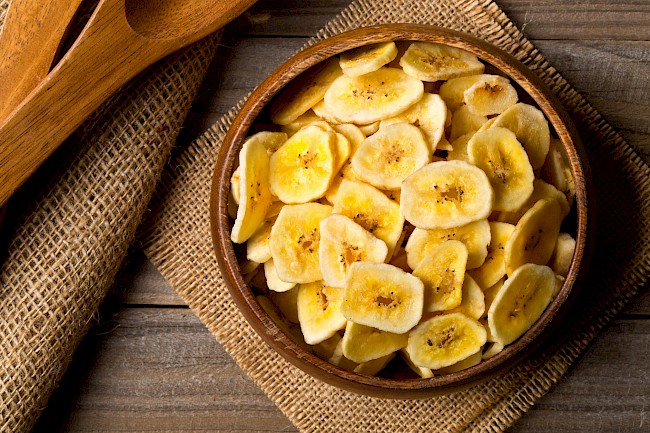 Suszone banany (chipsy) - kalorie, kcal, ile waży