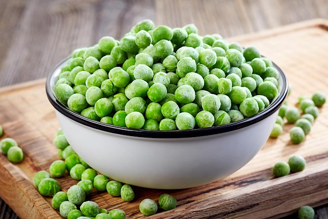 Groszek mrożony - kalorie, kcal, ile waży