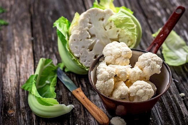 Kalafior - kalorie, kcal, ile waży