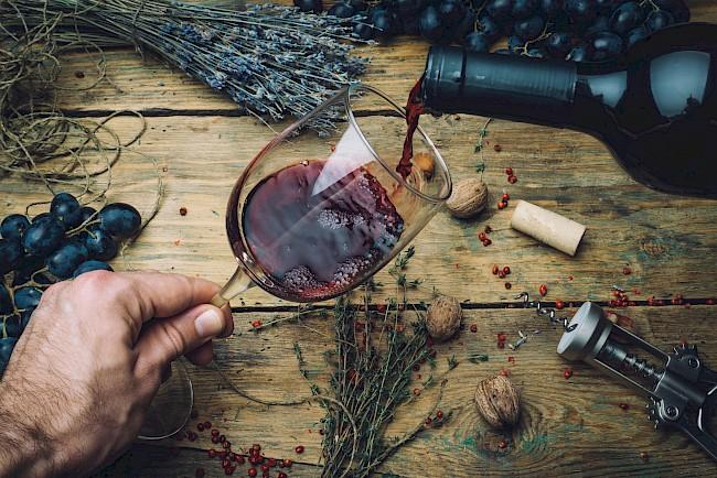Wino czerwone - wartości odżywcze, witaminy, minerały